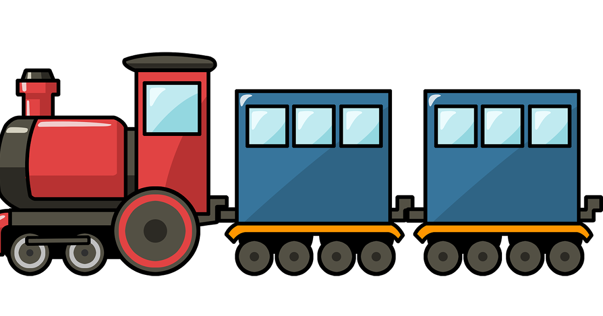 Train rail transport steam. Wagon clipart freight