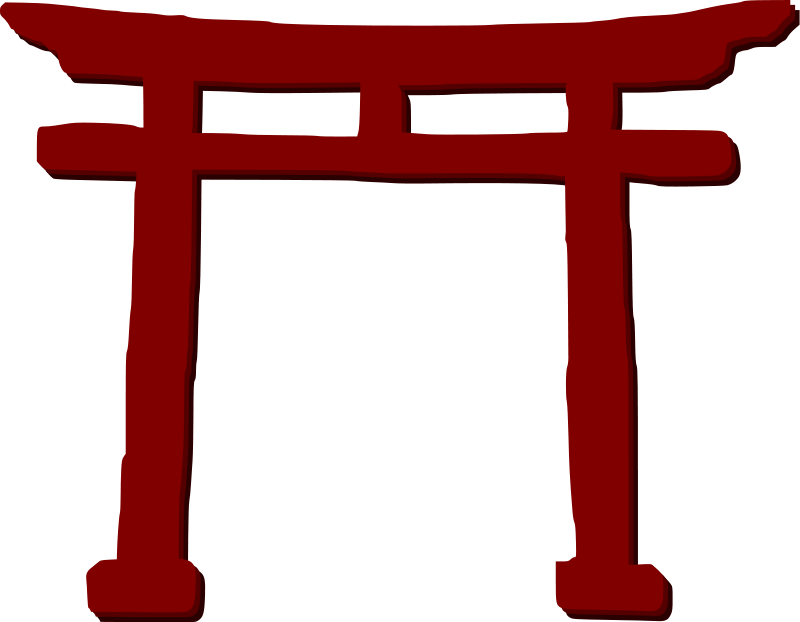 Gate panda free images. Japanese clipart mountain japanese