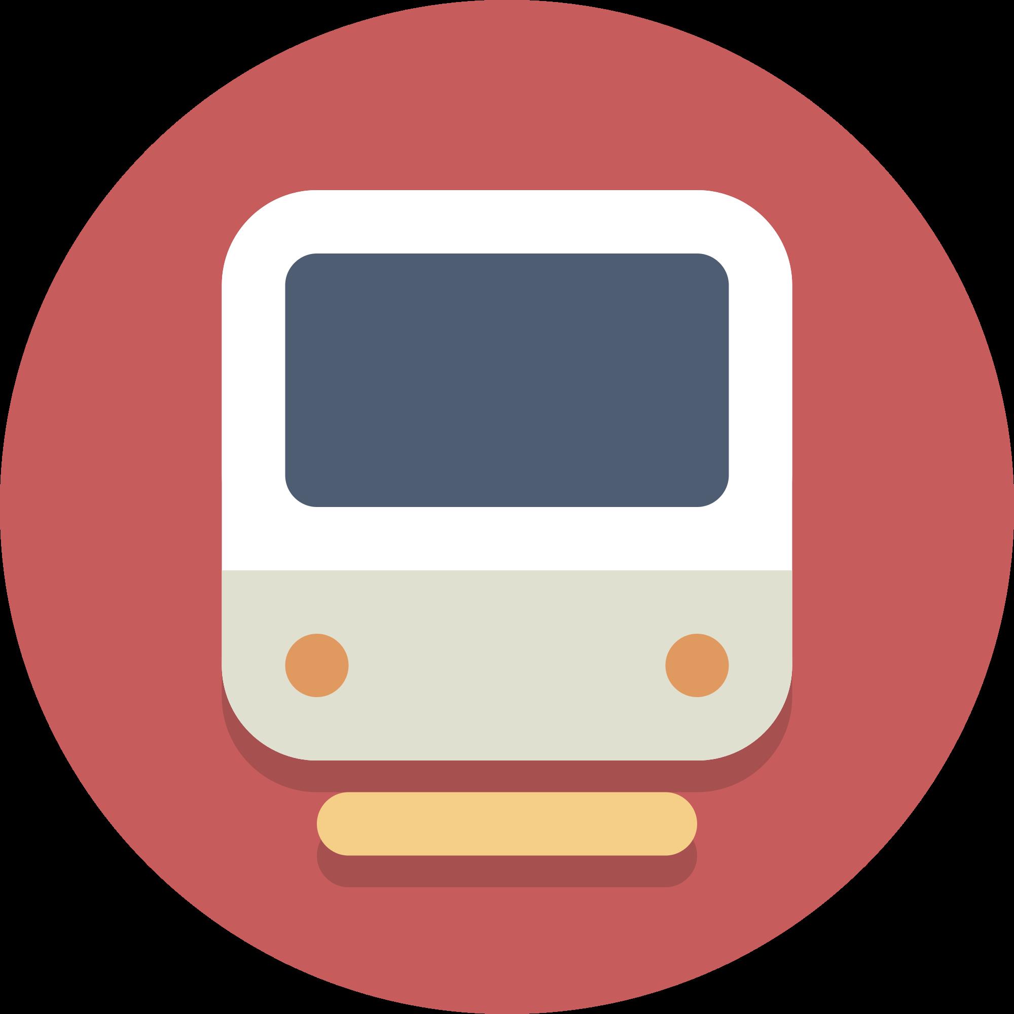 clipart train icon