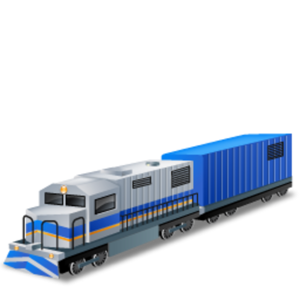 Diesellocomotive boxcar free images. Clipart train icon