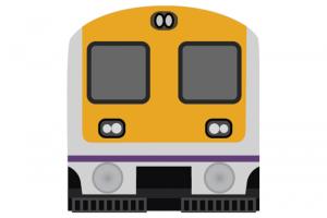 Mumbai portal . Clipart train local train