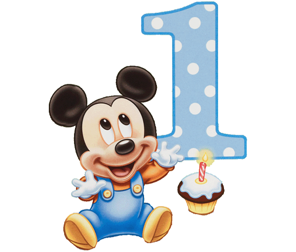 Number 1 clipart mickey mouse. Polka dot disney birthday