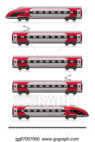Clipart train modern. Stock illustration high speed
