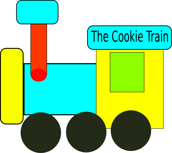 Clipart train outline. Cookie clip art at