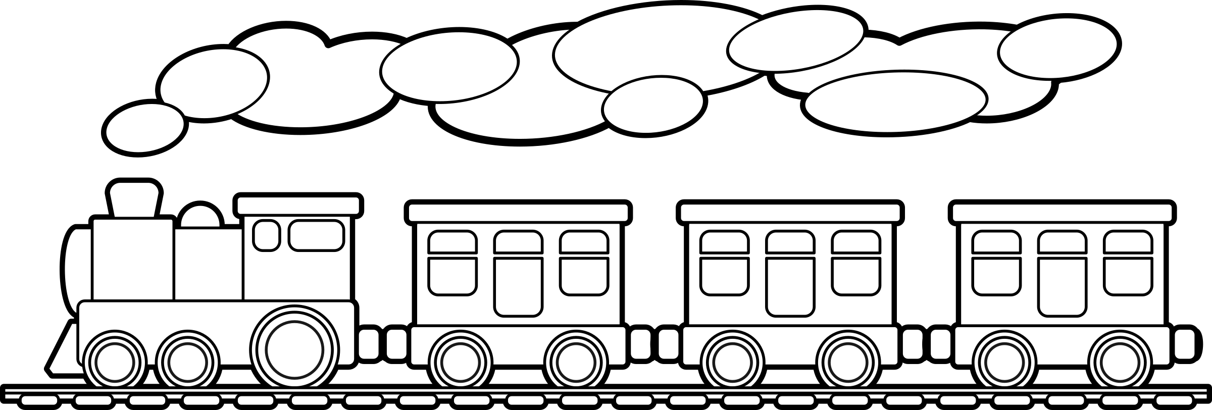 Clipart train outline. Set wooden picture of