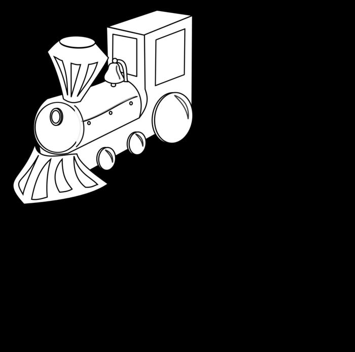 Transportation free black white. Clipart train outline