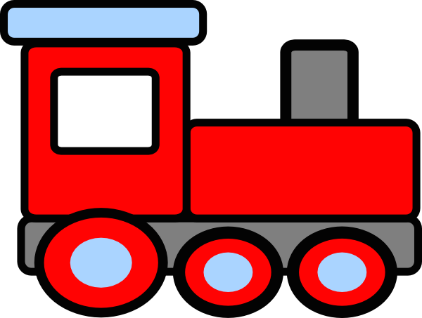 Clipart train red. Cartoon product transparent
