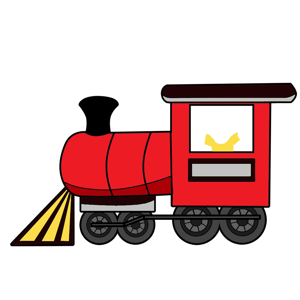 Fill in the blank. Clipart train red