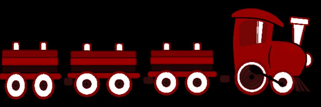 Choo trrain huge black. Clipart train red