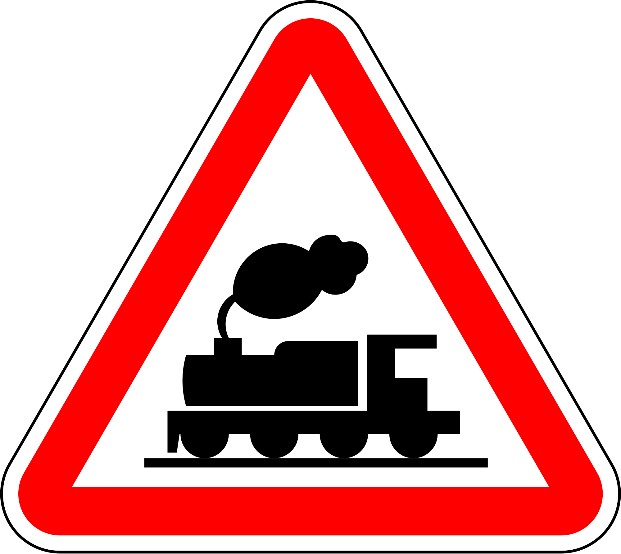 Clipart train sign. File portugal road a