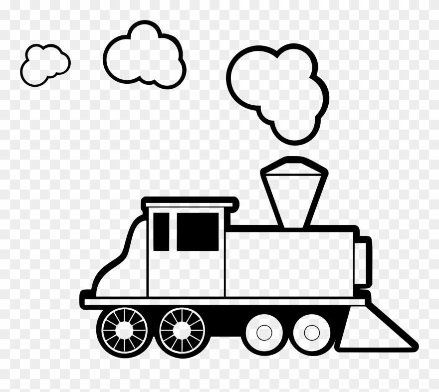 Engine clipart line art. Trendy idea train clip