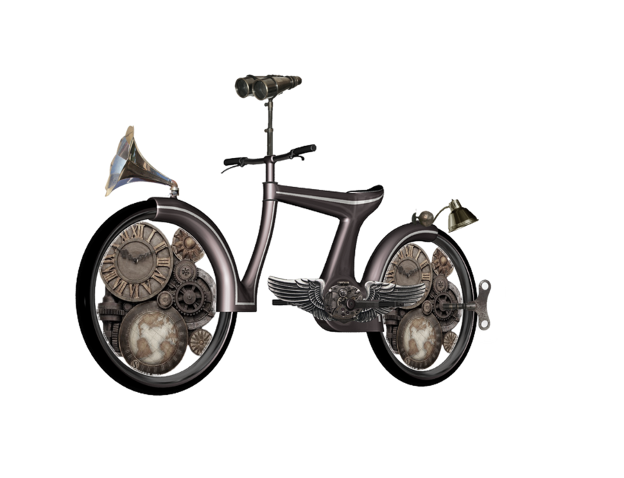 Steampunk clipart plane. Bike png by mysticmorning