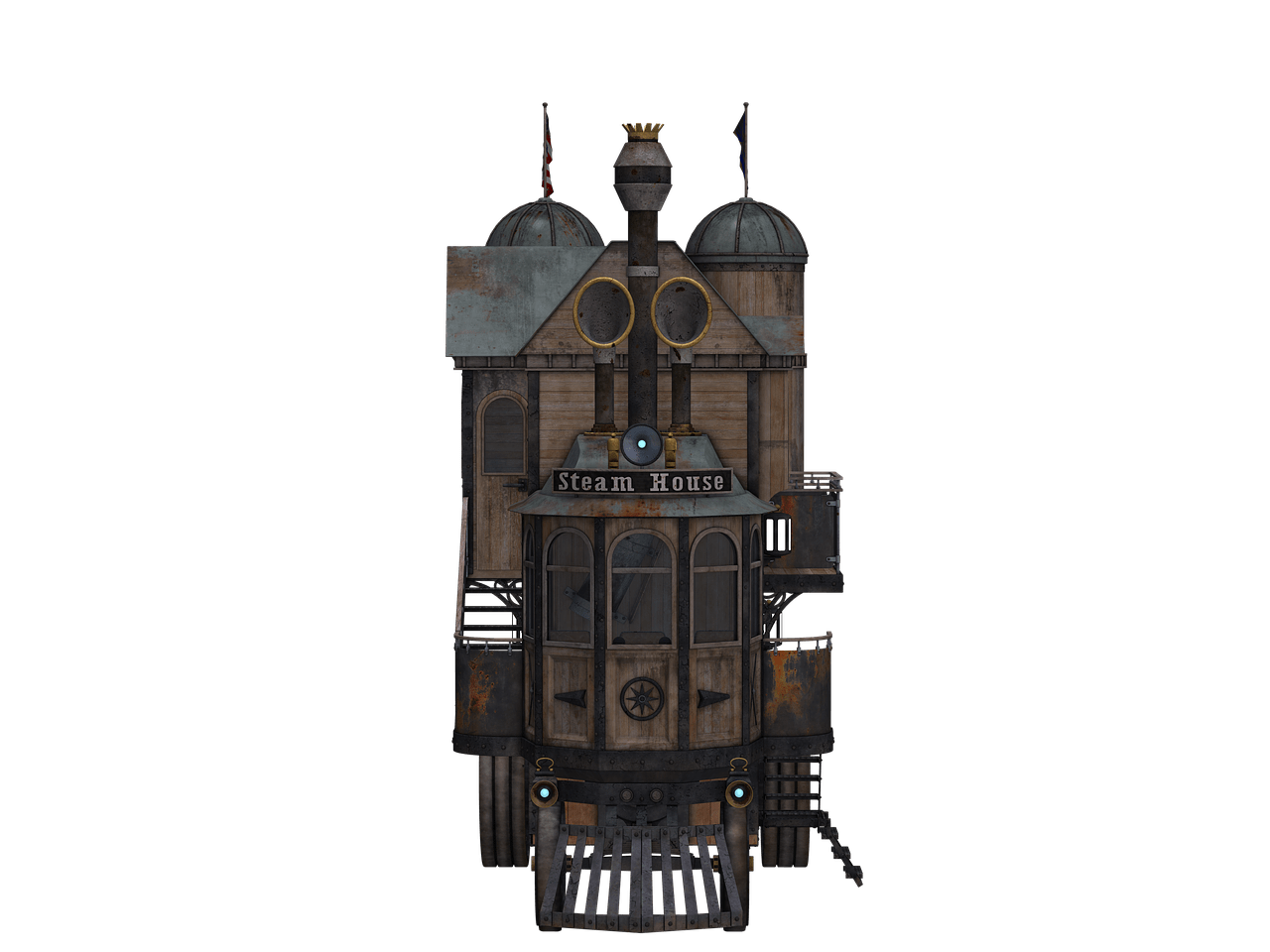 Steampunk clipart architecture. Locomotive front view transparent