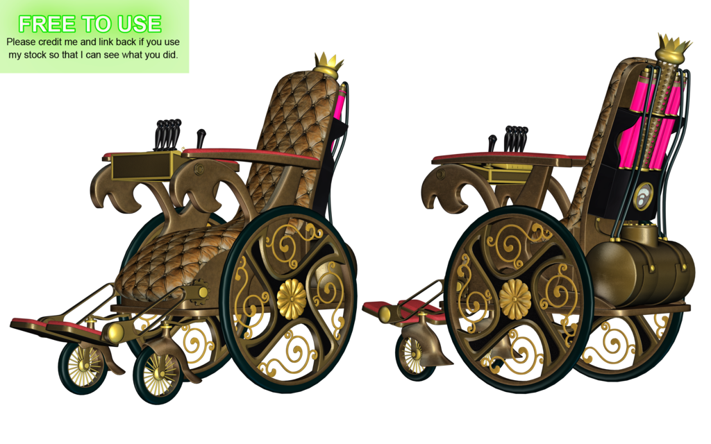 Steampunk clipart train. Wheelchair png stock by