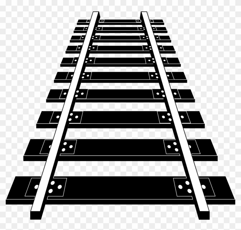 Track clipart rail track. Railroad tracks png image
