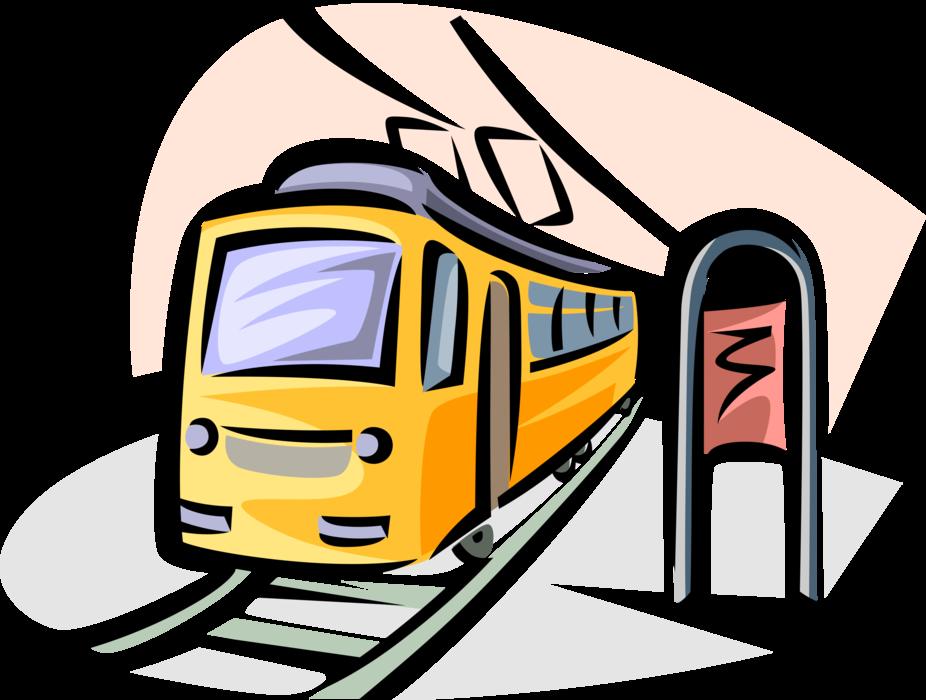 Transportation clipart urban transport. Electric streetcar tram or