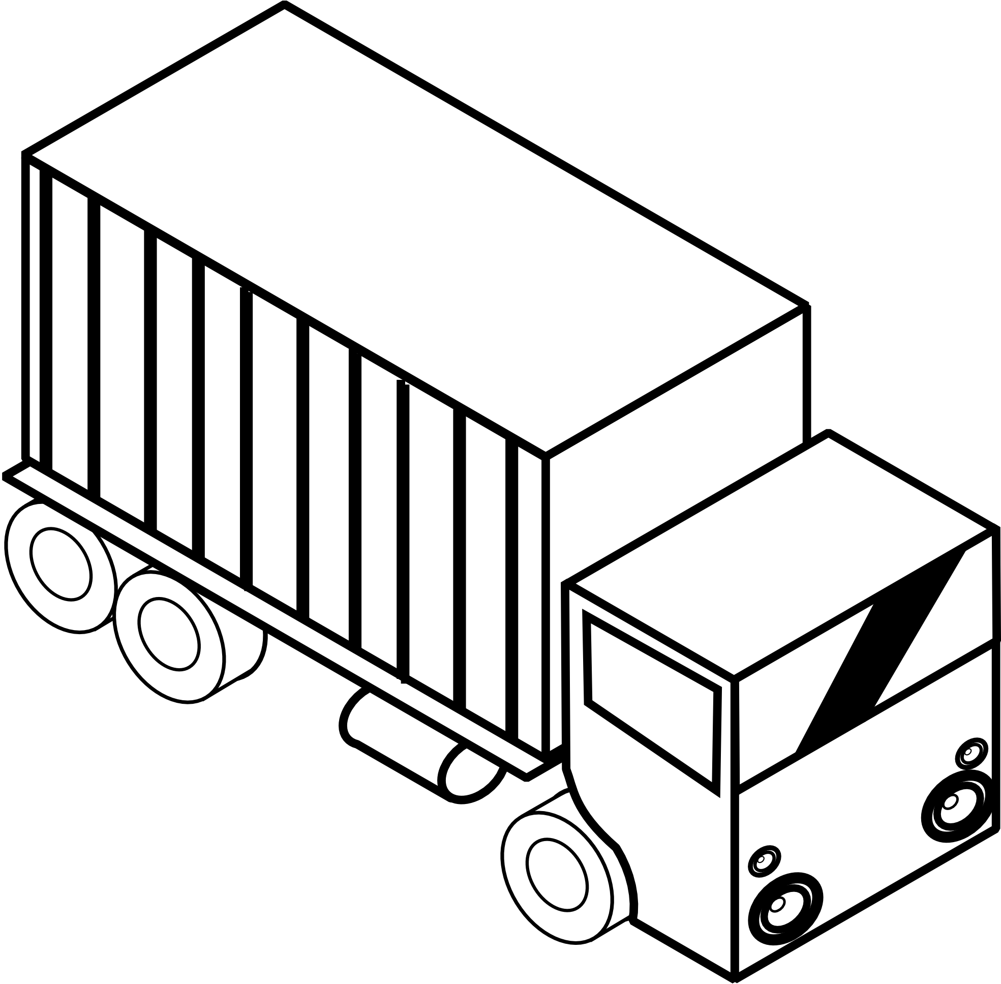 Truck panda free images. Engine clipart black and white