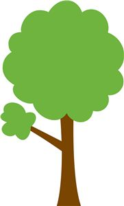 Tree clipart.  green panda free