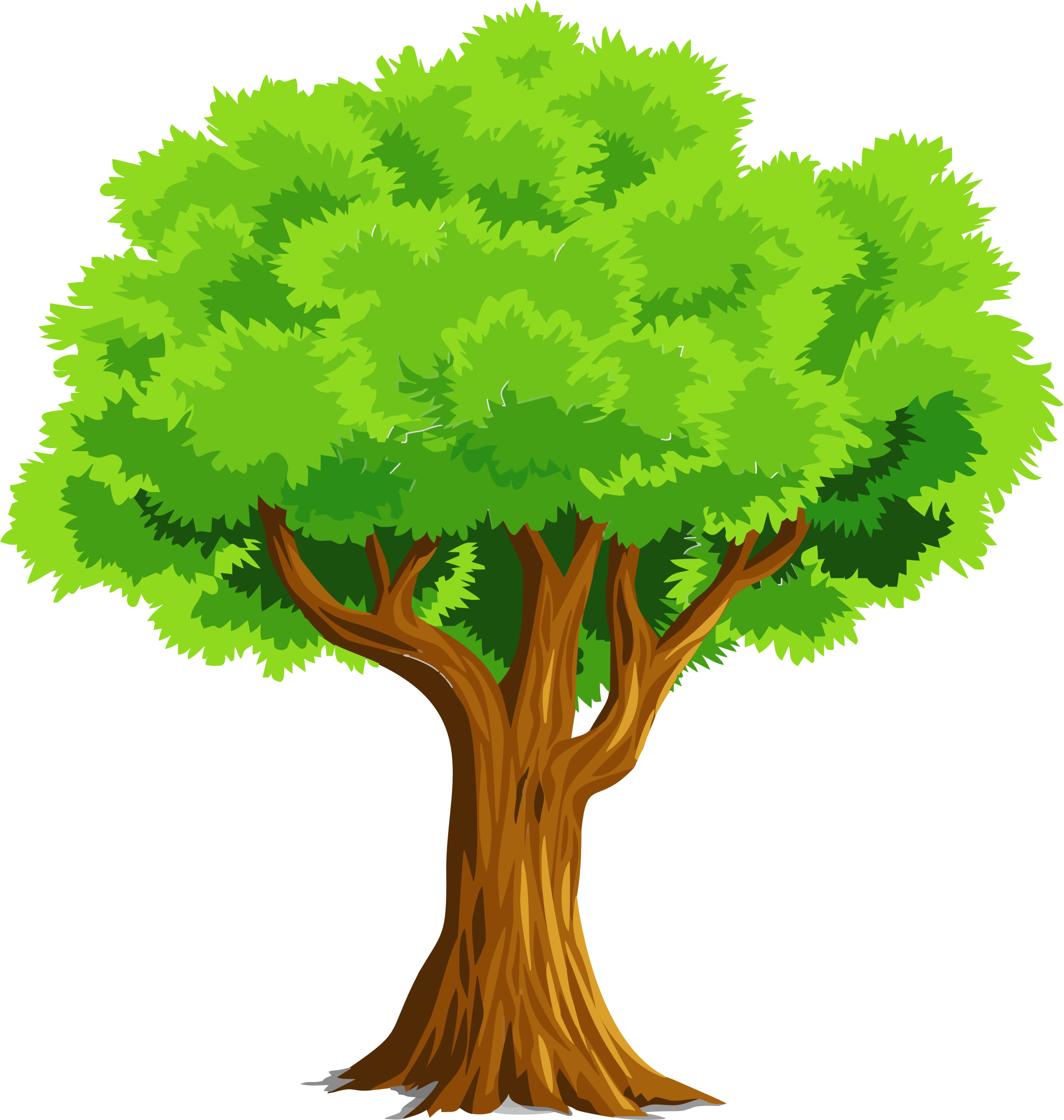 Tree clipart. Colorful natural by gdj