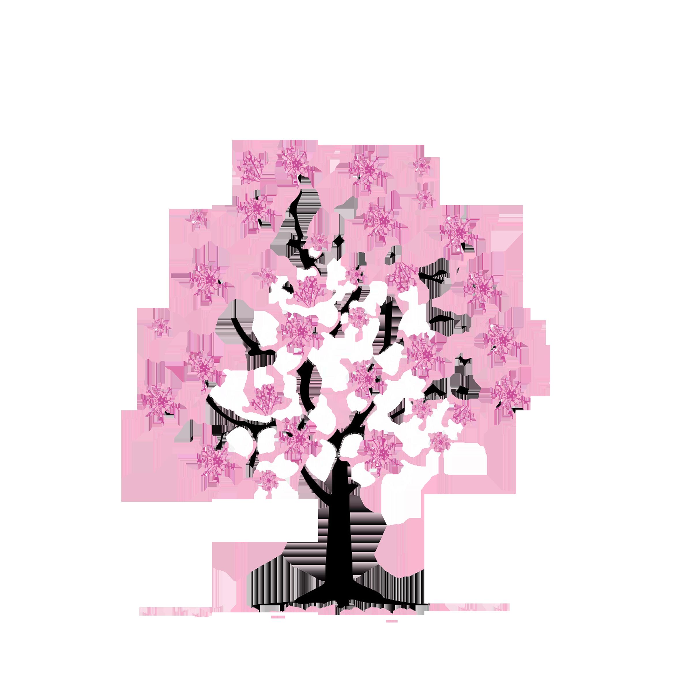 Cherry clip art cartoon. Clipart tree apple blossom