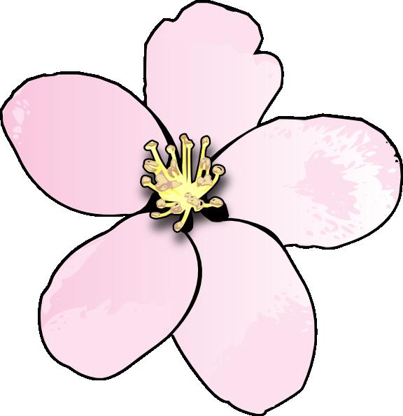 Clipart tree apple blossom. Pink clip art at