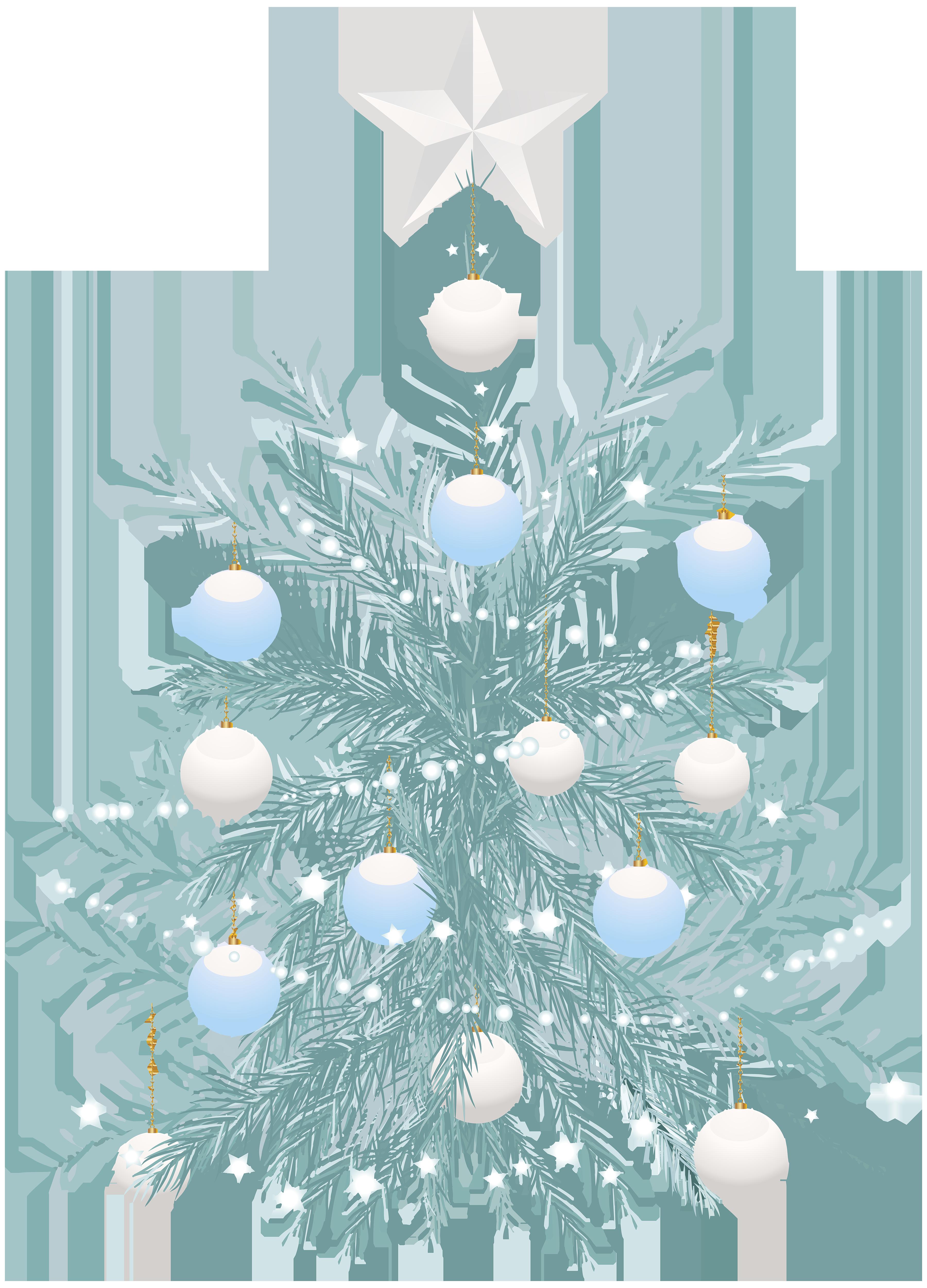 Clipart trees blue. Christmas tree transparent clip