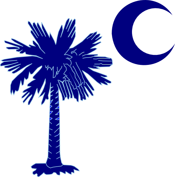 Sc palmetto tree blue. Longhorn clipart coloring page
