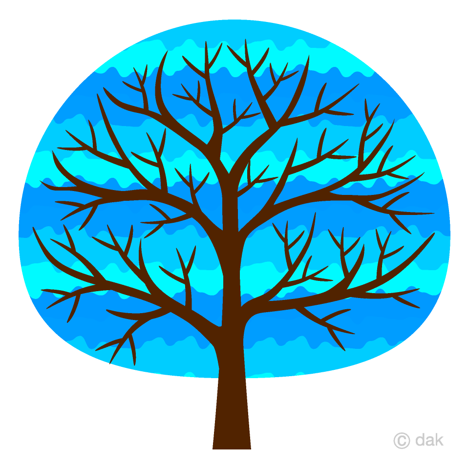 Cute free picture illustoon. Tree clipart blue