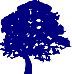 Tree clipart blue. Clip art at clker