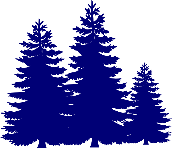 Trees clip art at. Landscape clipart pine tree