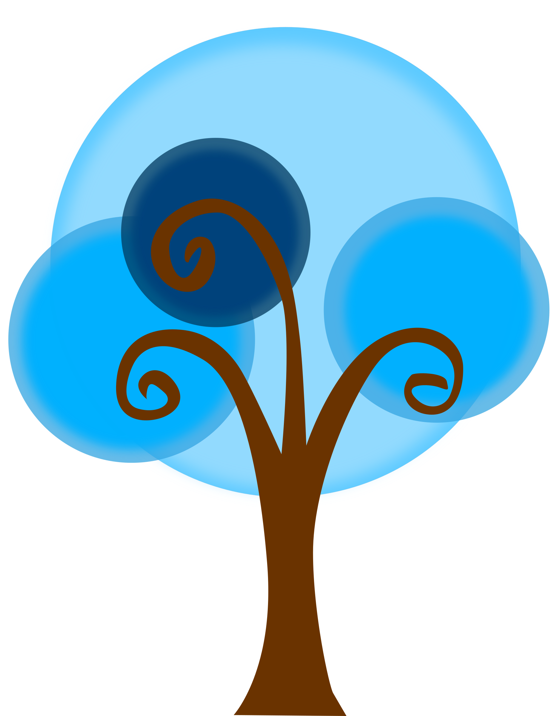 . Tree clipart blue