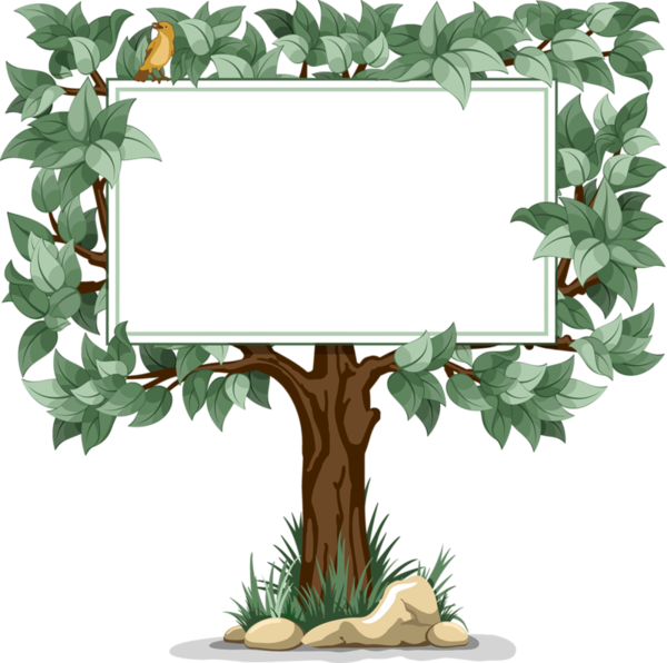 Poppy clipart blank. Tree sign clip art