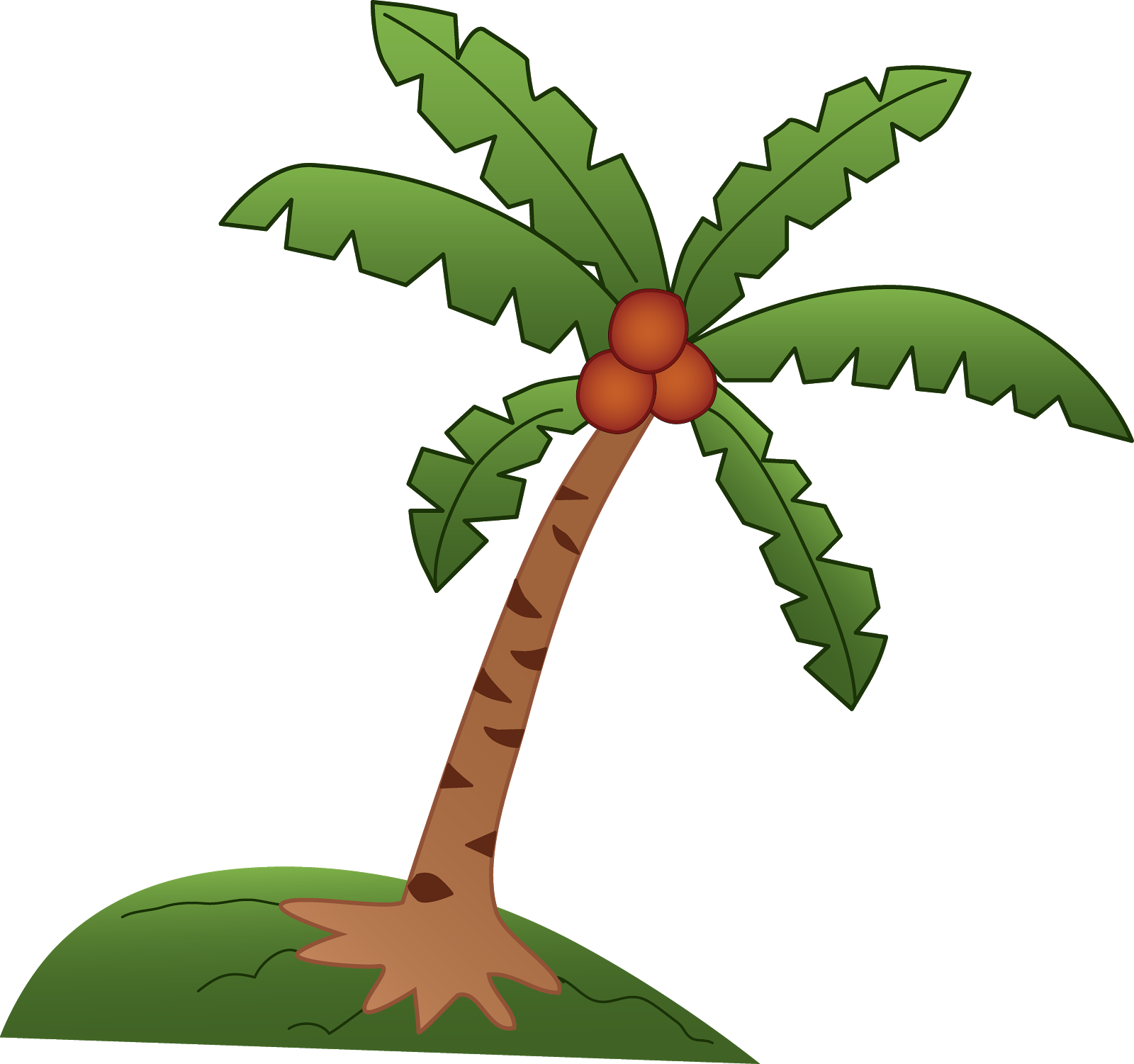 Coconut tree pictures drawing. Clipart trees buko