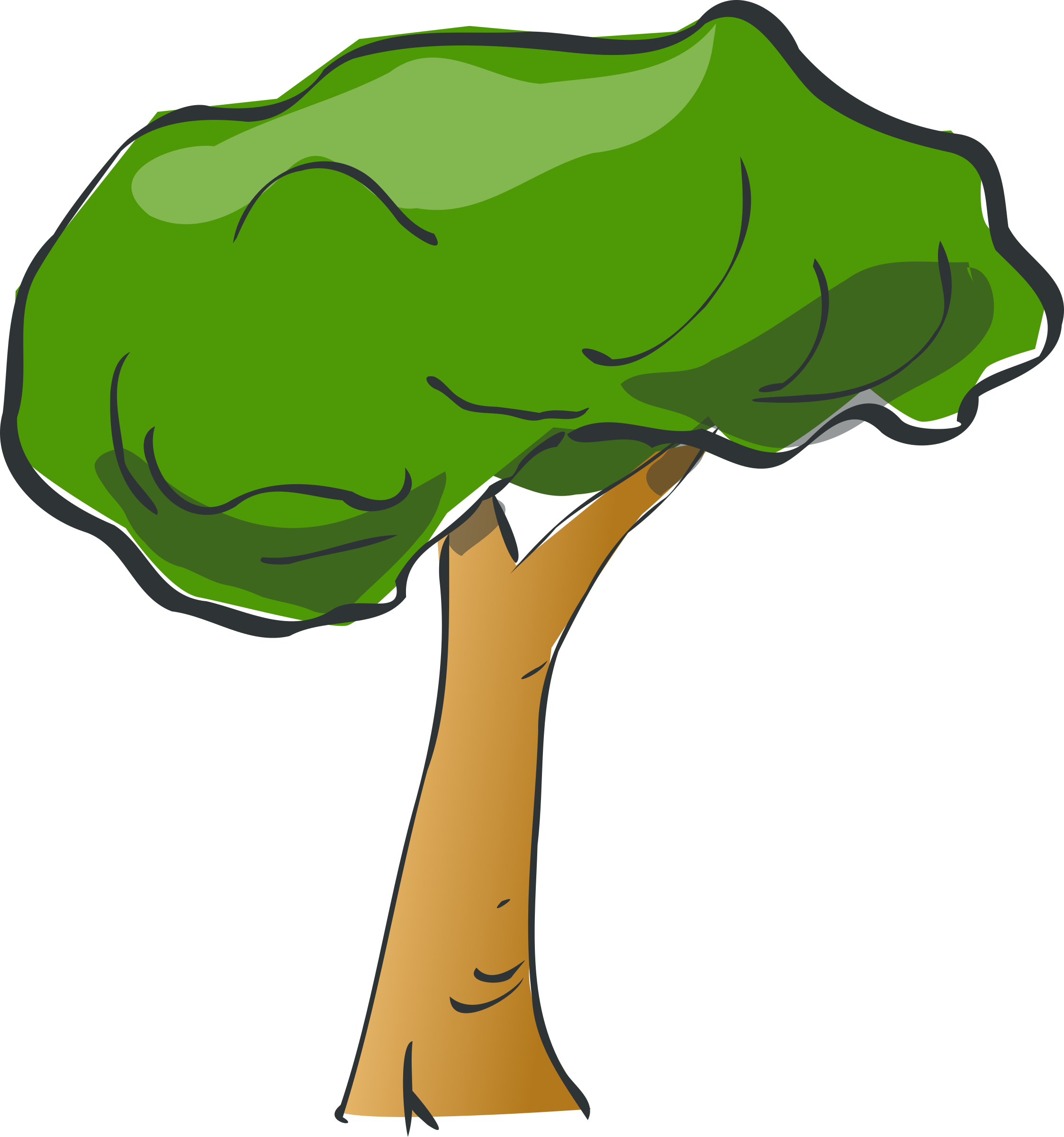 Clipart tree cartoon.