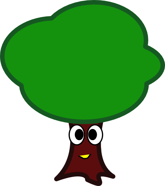 My clip art at. Tree clipart face