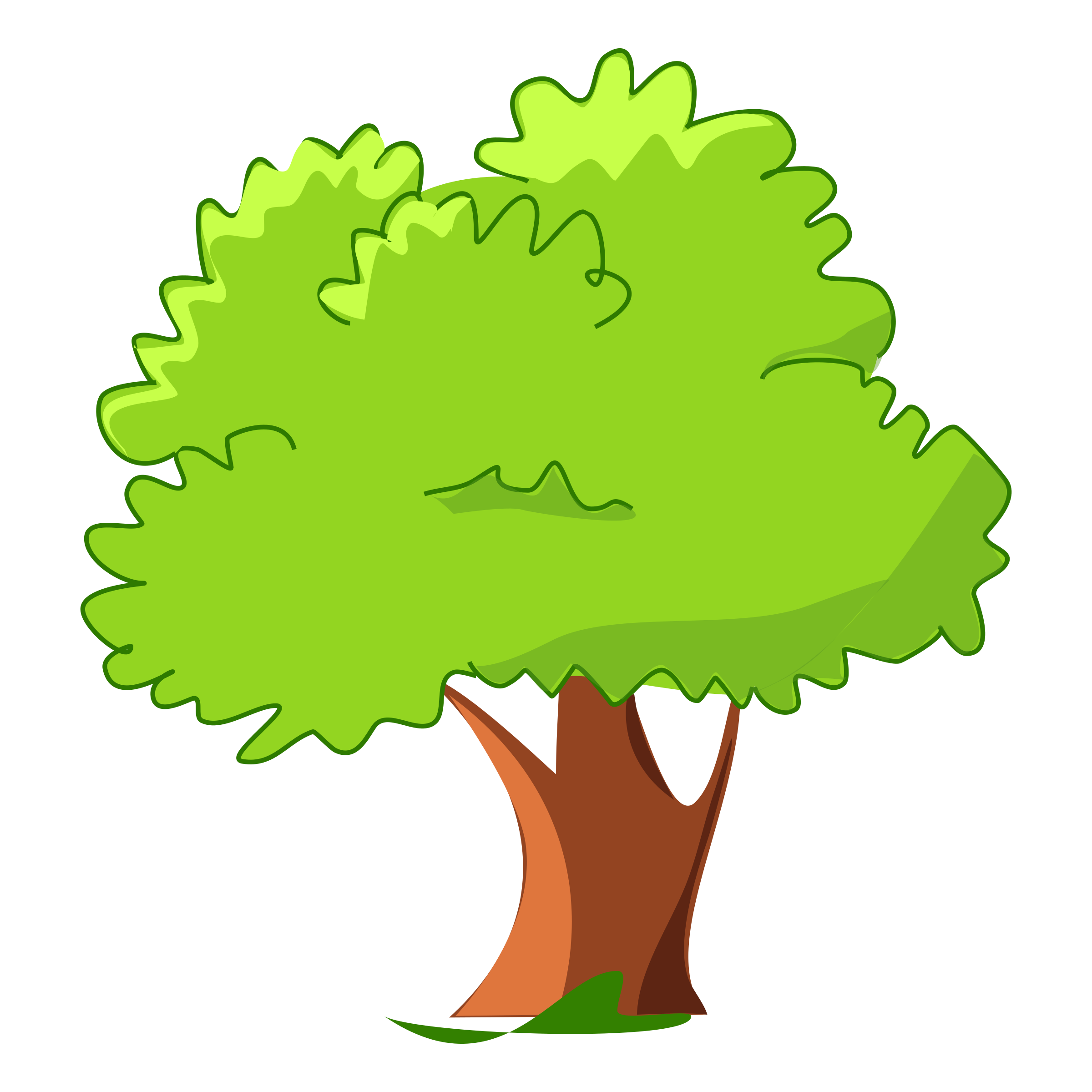 . Clipart tree cartoon