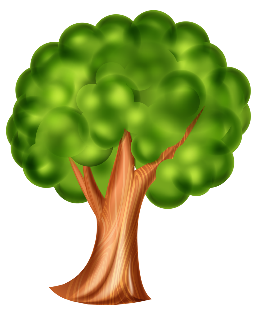 Clipart tree cartoon. Png clip art d