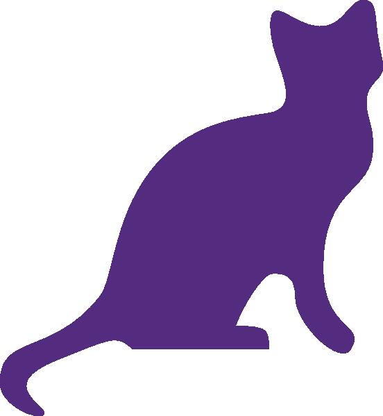 Purple clip art at. Clipart tree cat
