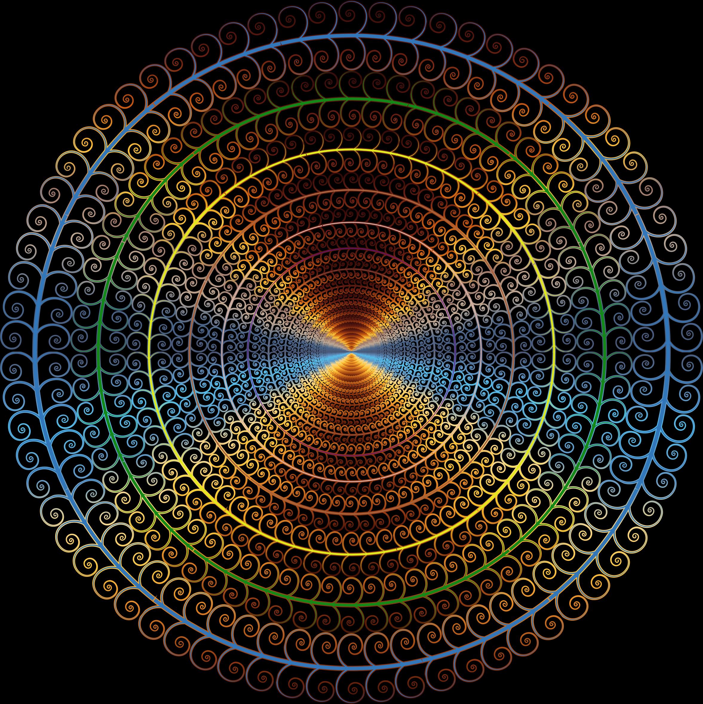 Tree clipart circle. Prismatic spiral big image