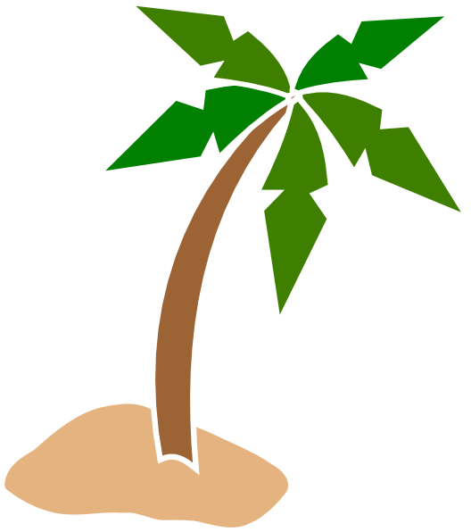 Coconut tree clip art. Leaf clipart animation