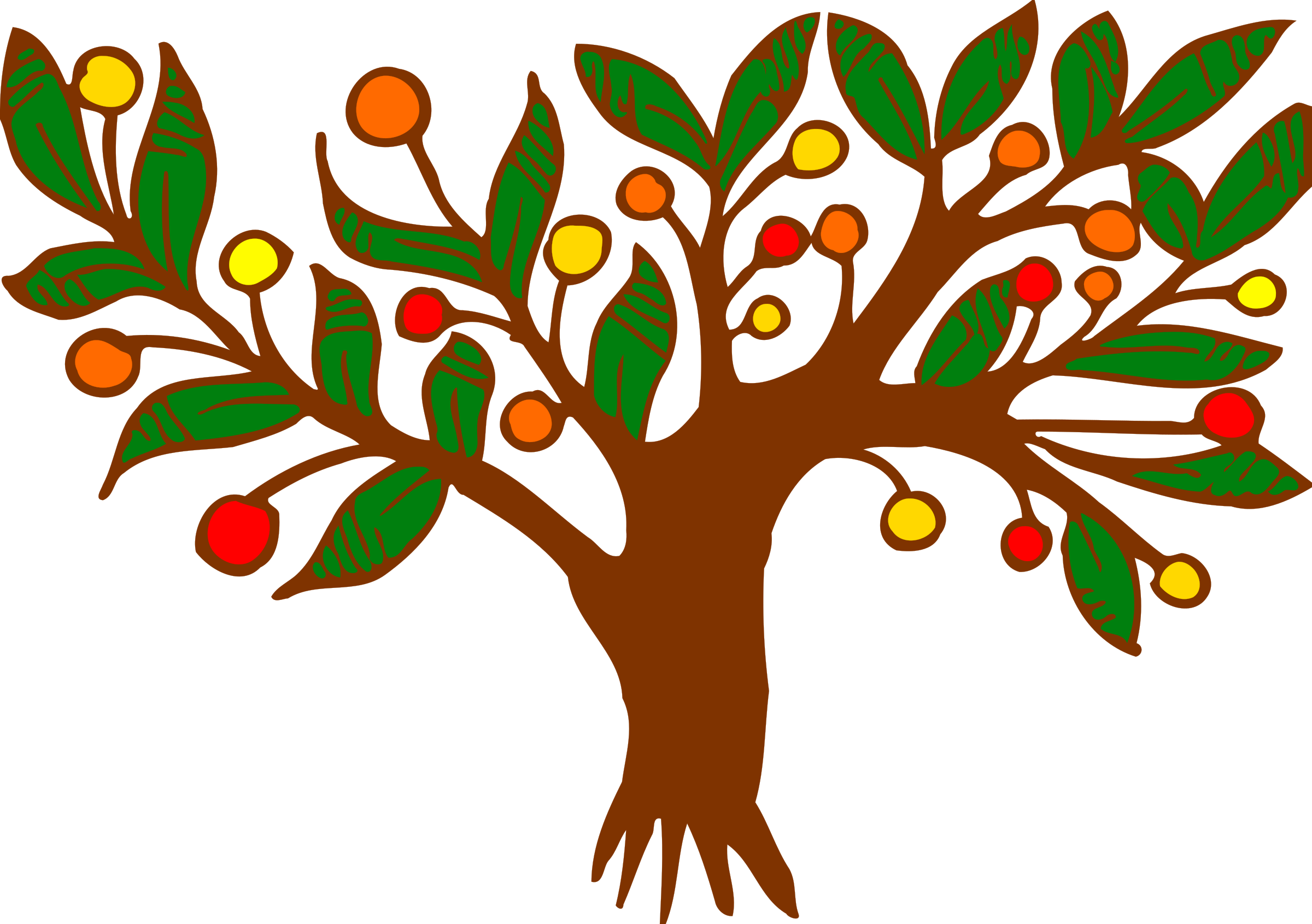 Big image png. Tree clipart colour