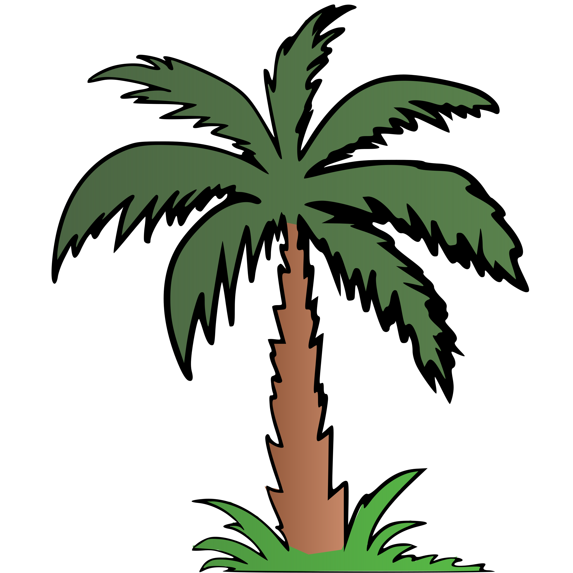 Palm big image png. Clipart tree colour