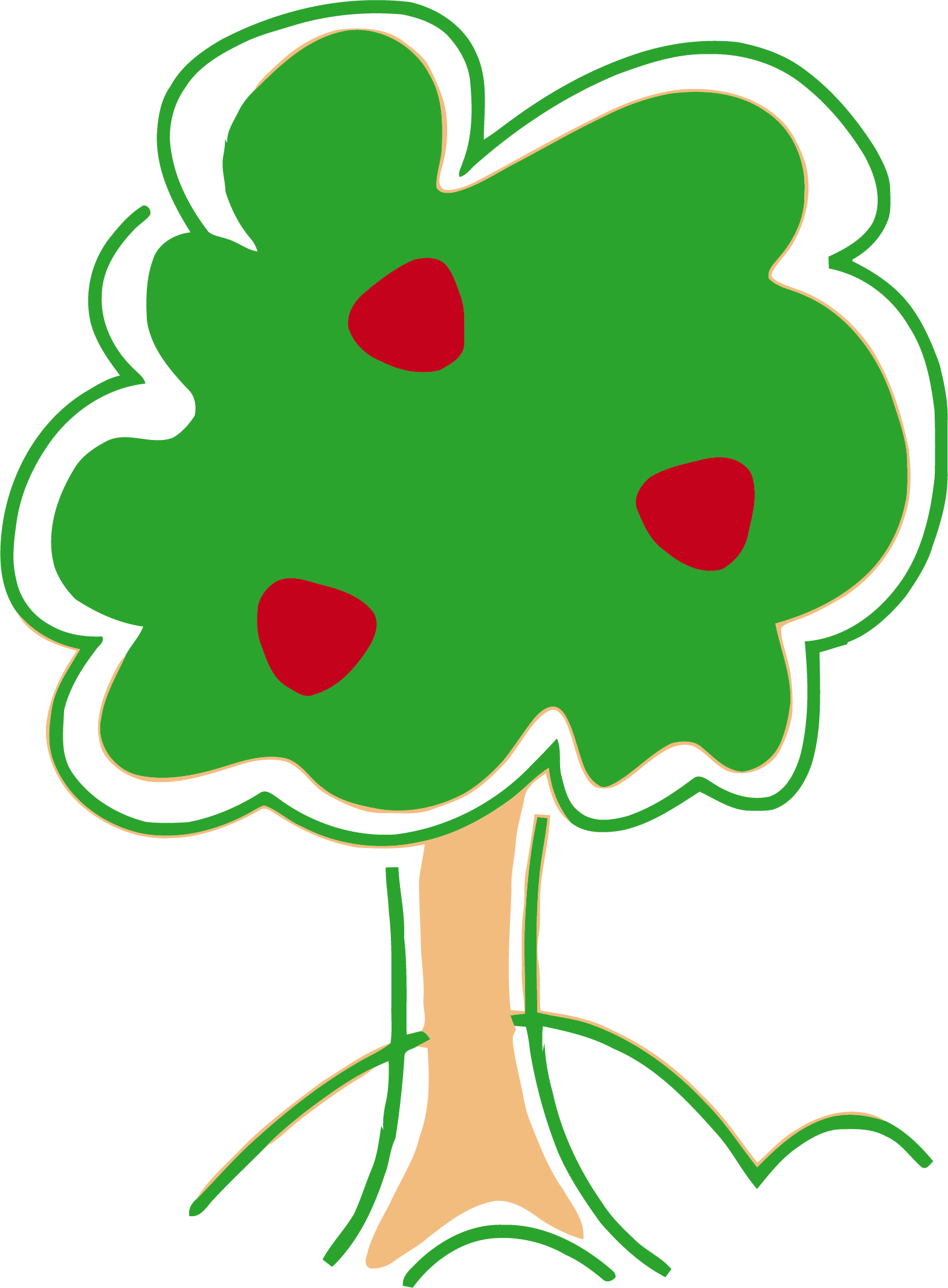 Tree clipart cute. Basic apple png clipartly