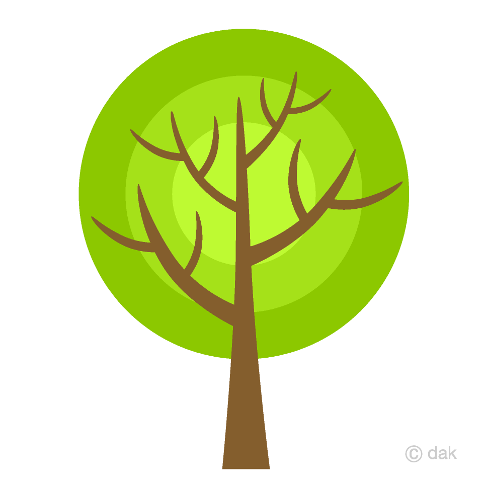 Tree clipart cute. Round free picture illustoon