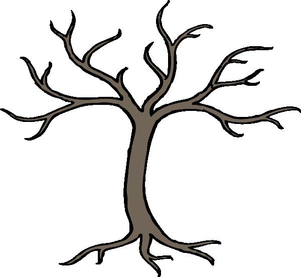 Tree clip art at. Clipart trees dead