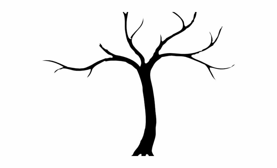 Silhouette free bare . Tree clipart dead