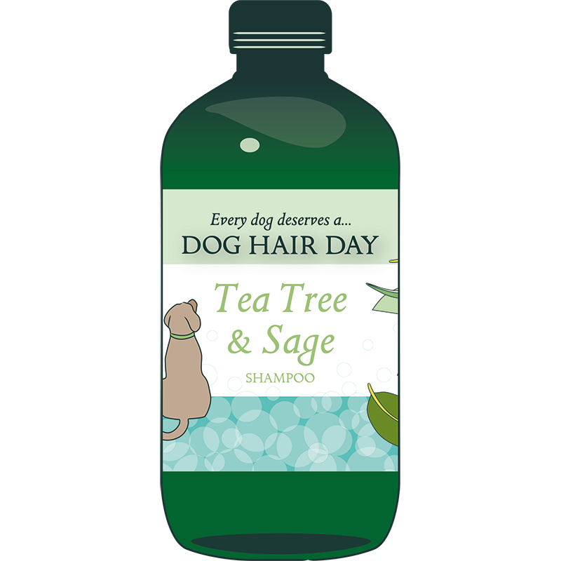 Clipart tree dog. Hair day tea sage