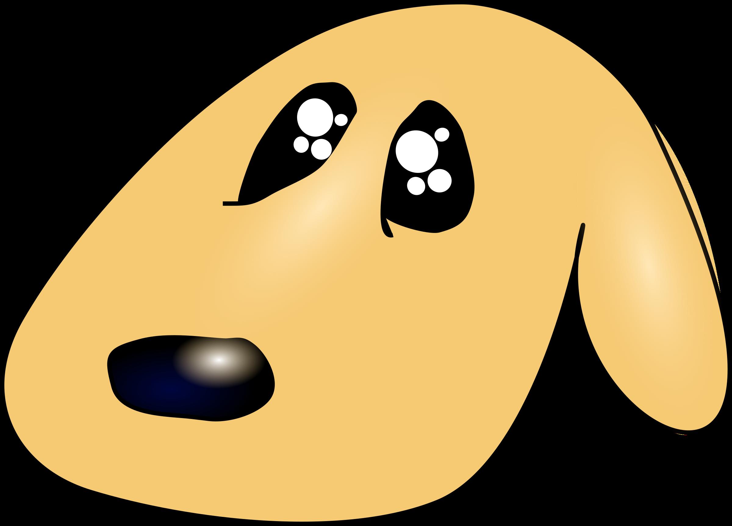 Cute sad big image. Clipart tree dog