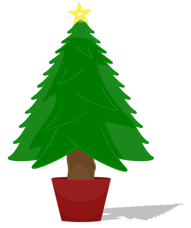 Free christmas line art. Woodland clipart fir tree