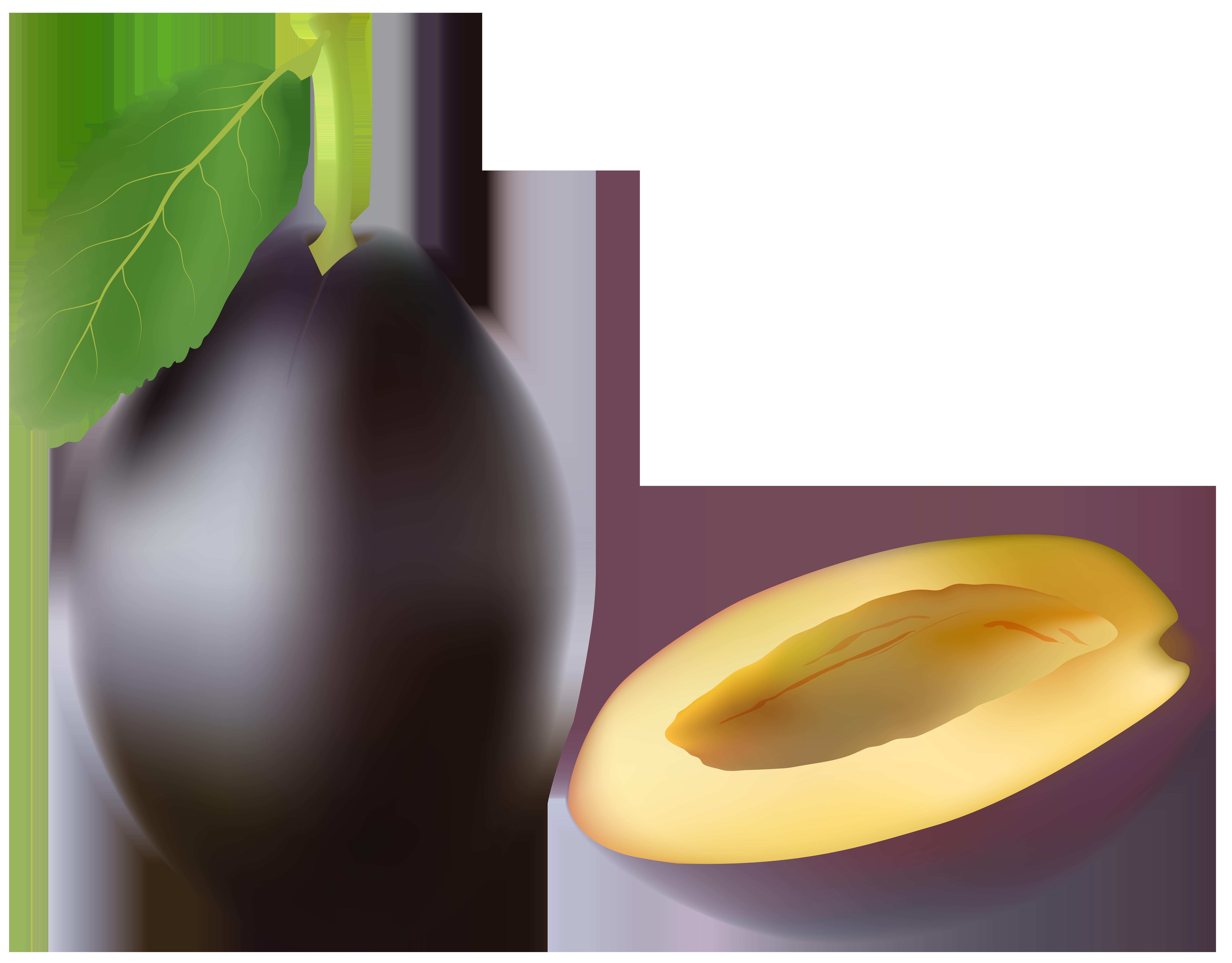 Plum fruit transparent clip. Clipart tree eggplant